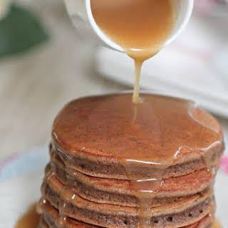 Chocolate Eggnog Baby Pancakes.