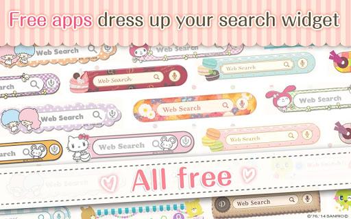kawaii search widget DRESSAPPS