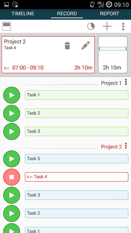 Time Tracker - Timesheet - screenshot