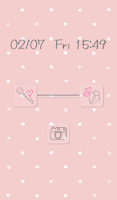 Screenshot of Cute wallpaper★Pink polka dots