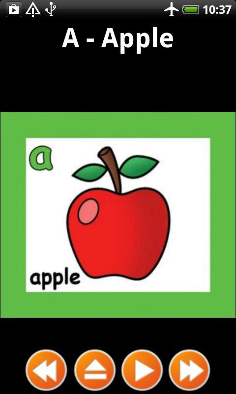 alphabet flash card