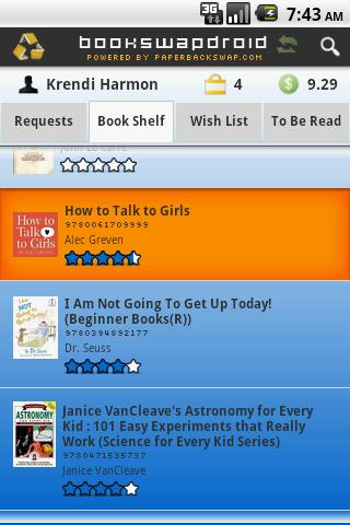 BookSwapDroid - screenshot