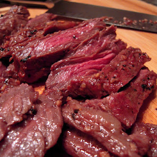 Garlic Skirt Steak.