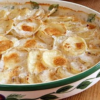 Scalloped Garlic Potatoes.