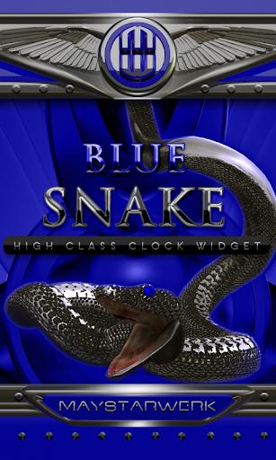 Blue Snake Clock widget