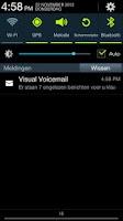 Screenshot of Ziggo Visual Voicemail