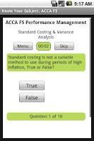 Screenshot of ACCA F5 Performance Management