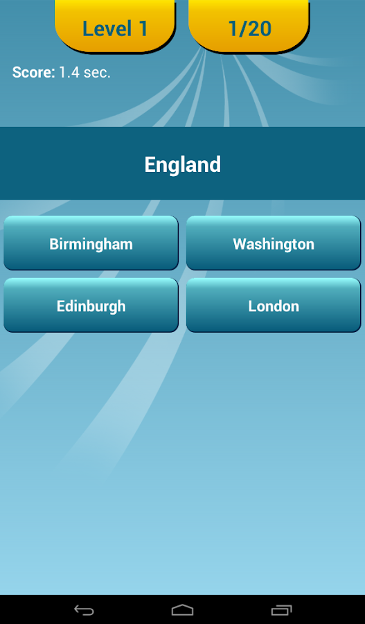 Countries Capitals Quiz - screenshot