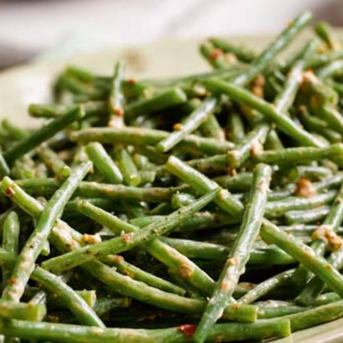 Green Bean Harissa Salad