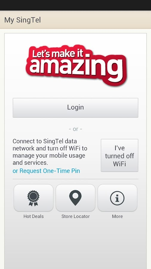 My SingTel - screenshot