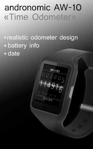 AW-10 Watch Face Time Odometer