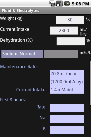 Fluid & Electrolytes - screenshot