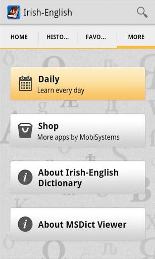 IrishEnglish Dictionary
