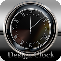 Clock stylish design logo