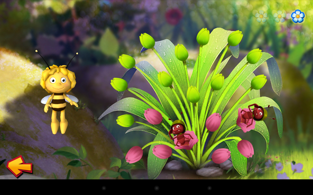 Maya the Bee: Flowerparty Lite- screenshot