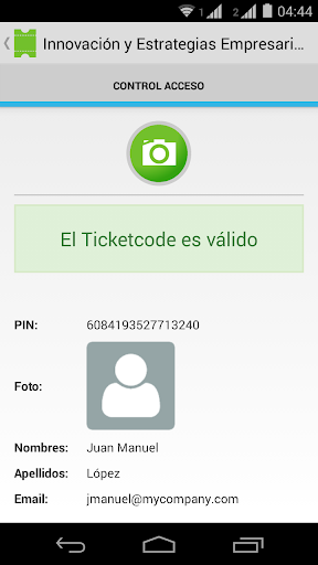 Ticketcode
