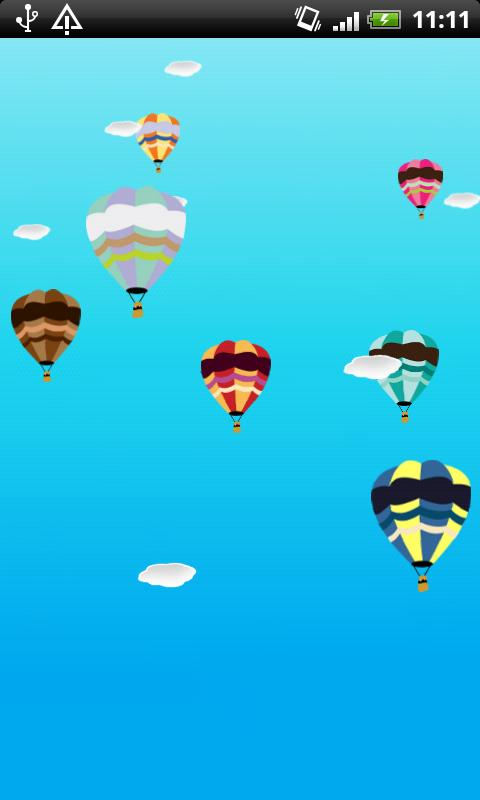 Hot air balloon live wallpaper - screenshot