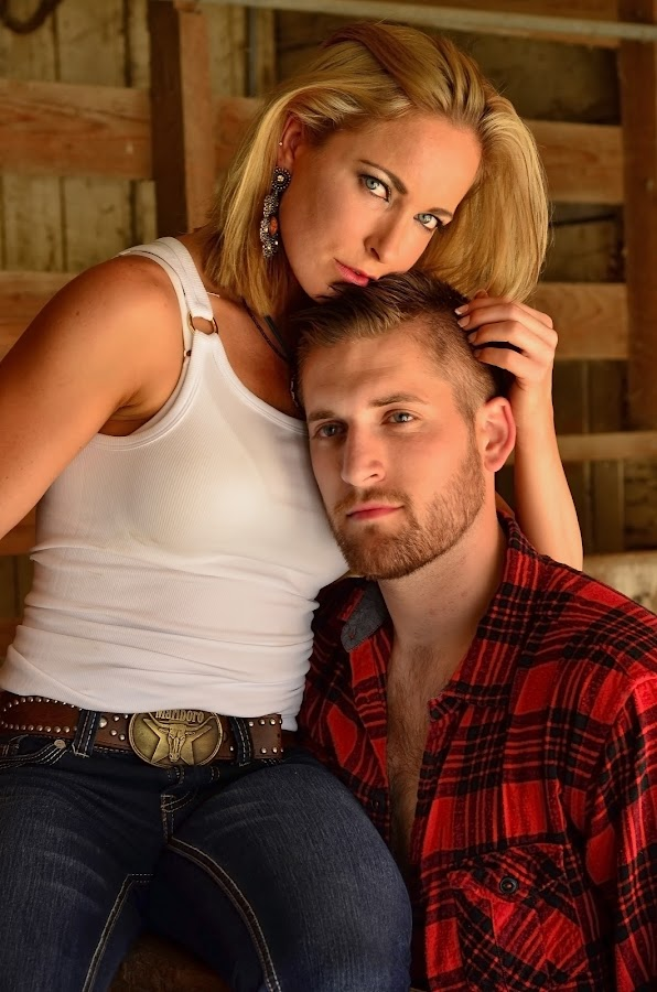 Country Couple by Les Walker - People Couples ( barn, western, couple, stable, country,  )