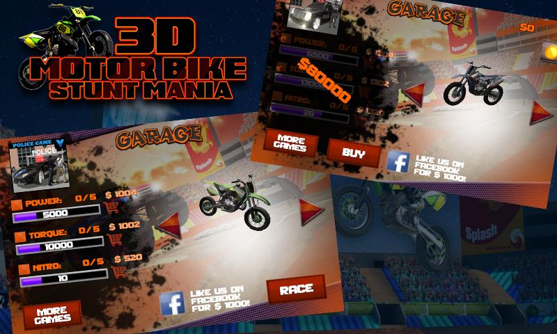 Stunt Mania Game 3d Motor Bike Stunt Mania