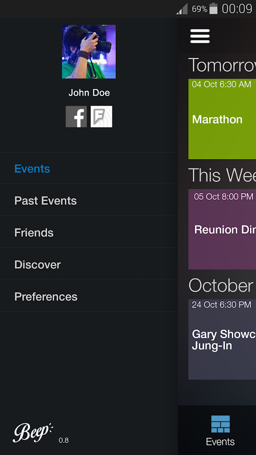 Beep: Personal Event Organizer- screenshot