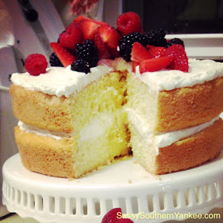 Limoncello Cake with Fresh Berries.