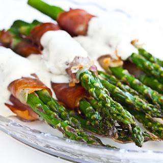 Crispy Prosciutto Wrapped Asparagus.