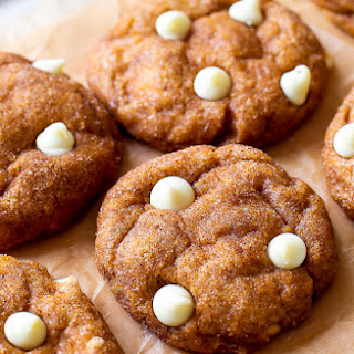 White Chocolate Pumpkin Snickerdoodles