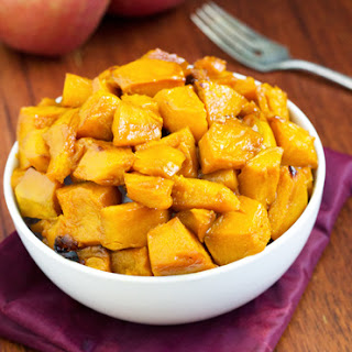 Roasted Kabocha Squash With Apple Cider Glaze {Gluten free, Low Fat & Vegetarian}