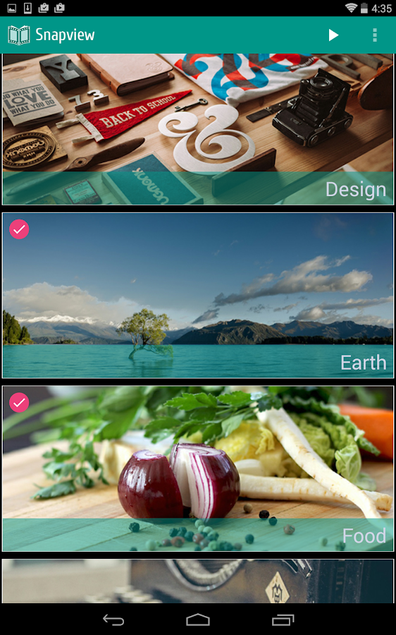 Snapview: images & backgrounds- screenshot