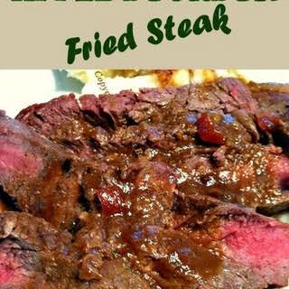 Apple Bourbon Fried Steak.