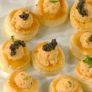 Lobster Mousse Puff Pastry Bouchees.