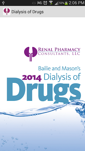 Dialysis of Drugs