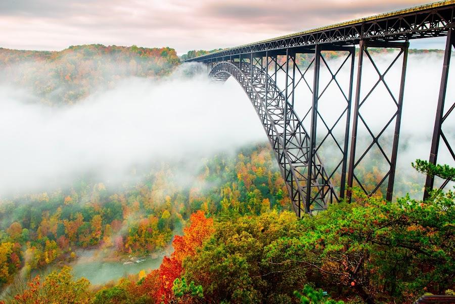 Gorge Bridge by Jim Harmer - Buildings & Architecture Bridges & Suspended Structures