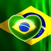 Love Heart Brazil Flag LWP