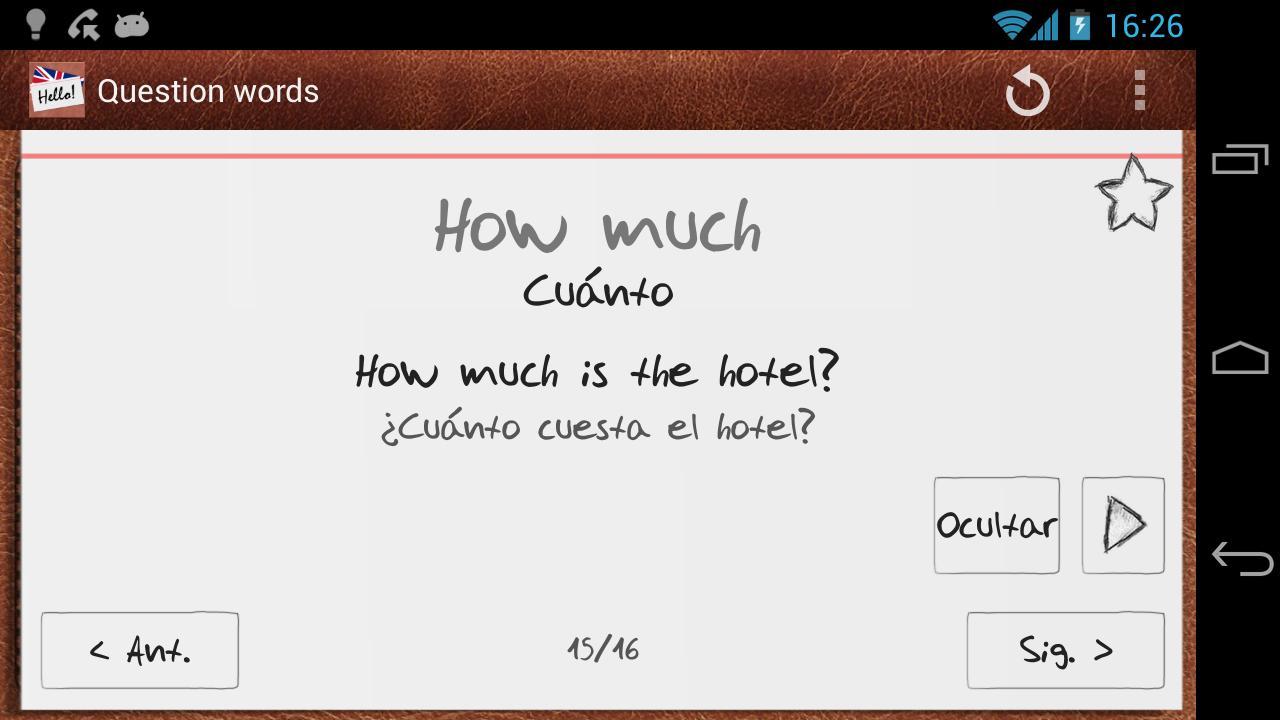 Aprende inglés con tarjetas - screenshot