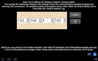 Screenshot of XPlaneRemote panel Plus