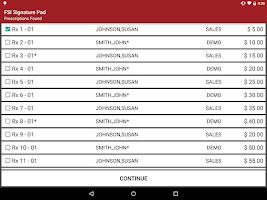 Screenshot of FSI Prescription Signature Pad