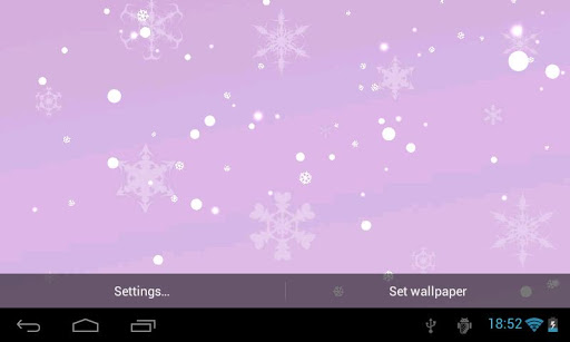 Snowfall 3D Live Wallpaper