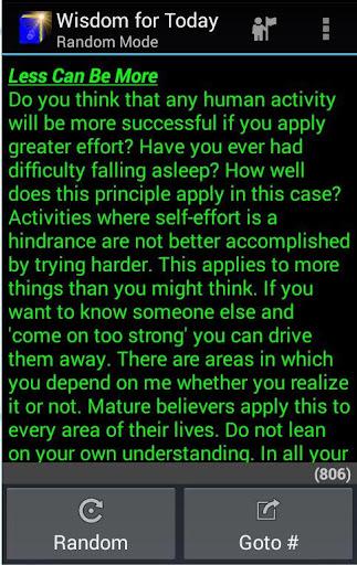 Wisdom for Today