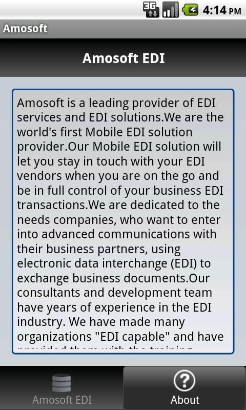 Amosoft EDI - screenshot