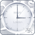 White clock live wallpaper HD icon
