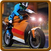 3D Motorbike downtown driving