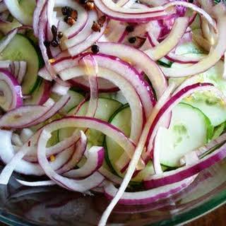 Simple Cucumber Salad.
