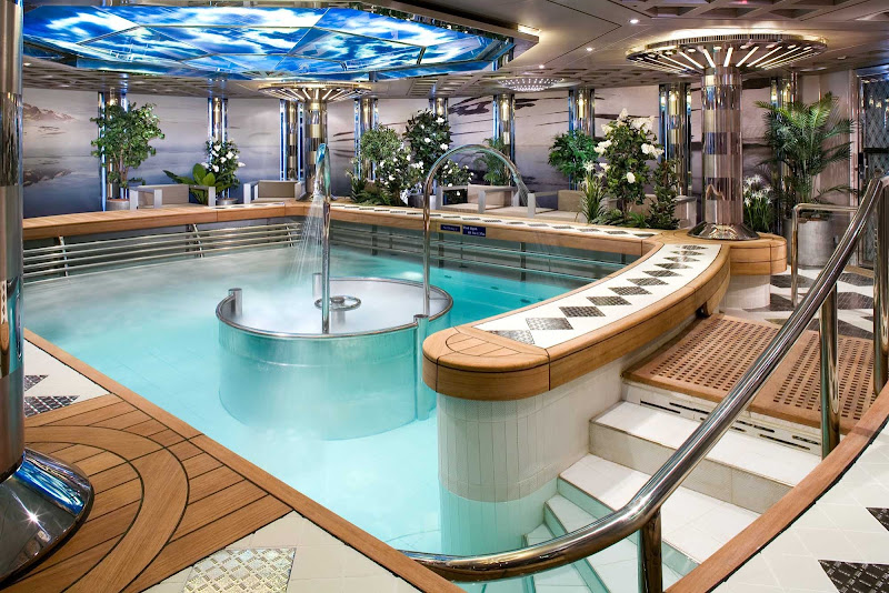Take a dip in the hydrotherapy pool at the Green Spa aboard Eurodam.