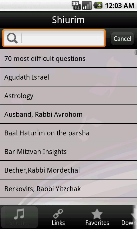 Torah Lectures- screenshot