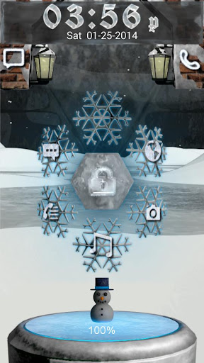 Winter 3D Go Locker Theme