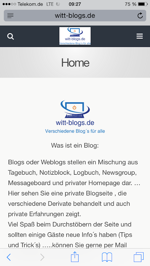 Blogseite von Witt- screenshot