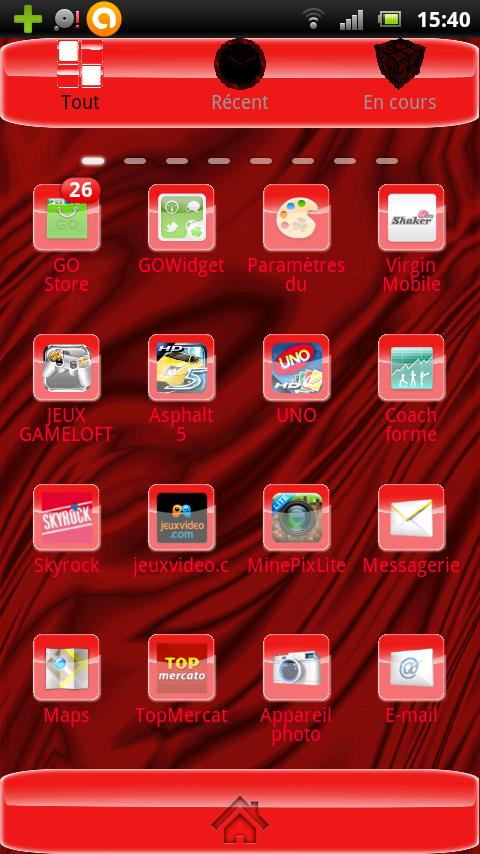 Red Hell Theme HD - screenshot