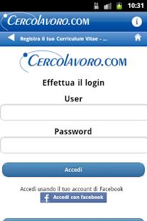 Cerco Lavoro- screenshot thumbnail