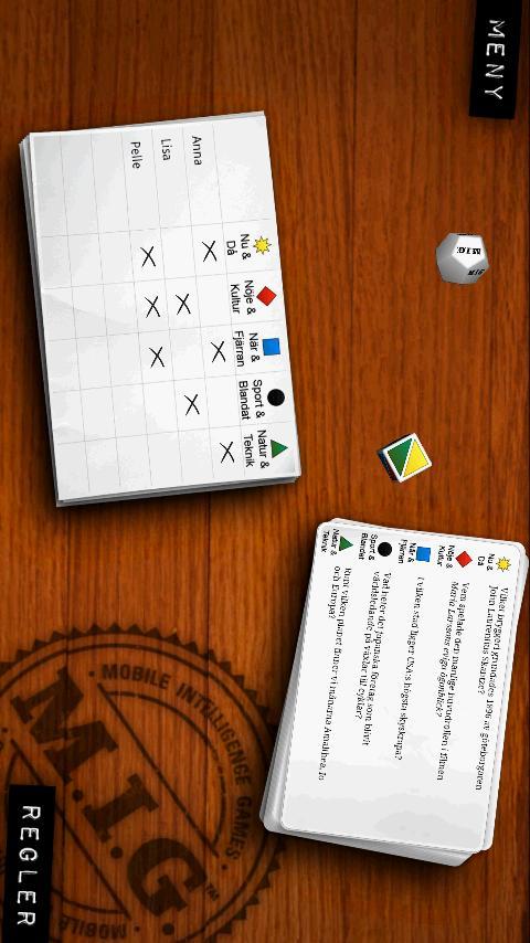 MIG Lite – Frågespel- screenshot